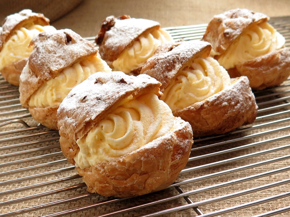 Classic Cream Puffs at Madeleines Bakery in Milton, VT